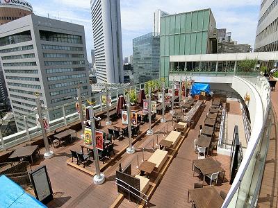 大丸梅田店15Fの太陽の広場