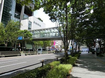 グランフロント大阪南館と北館の連絡橋