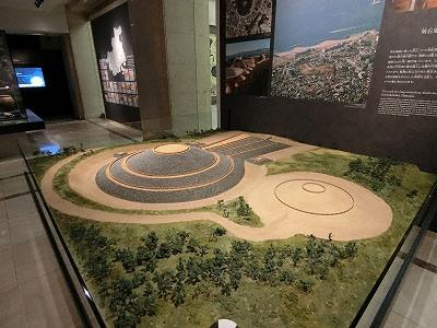 神戸市立博物館 五色塚古墳の模型