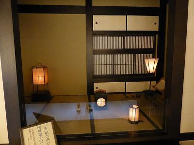 江戸時代のあかりの情景展示