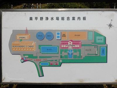 奥平野浄水場案内図
