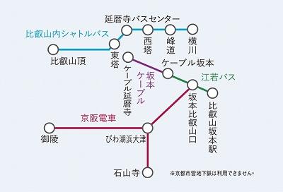 比叡山延暦寺巡拝 大津線きっぷ自由周遊区間