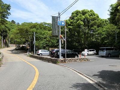 諏訪山公園山頂の無料駐車場