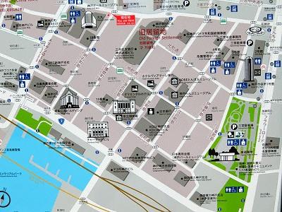 神戸旧居留地案内図