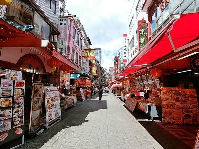 神戸南京町の東西のメインストリート