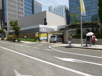 神戸市営三宮駐車場・北入口