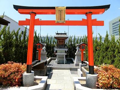神戸そごう屋上の諏訪山稲荷大明神