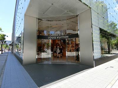 ルイ・ヴィトン神戸メゾン入口