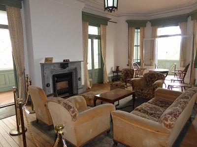 旧ハンター邸の居間